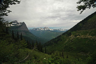 Going-to-the-Sun Road west of Logan Pass