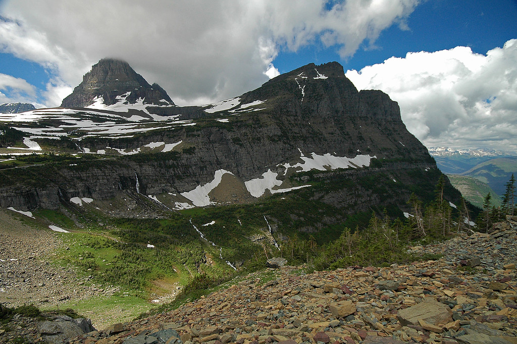 Mount Oberline and Clements Mtn from Highline Trail