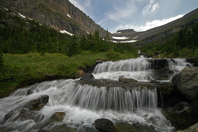 Cascade east of Logan Pass