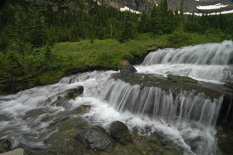 Cascade east of Logan Pass