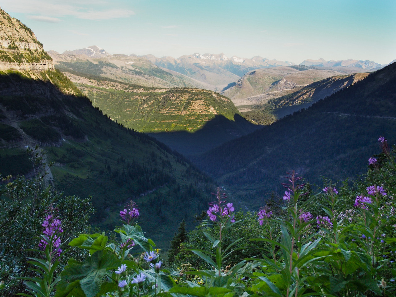 Day hike along Highline Trail, Garden Wall, Glacier NP