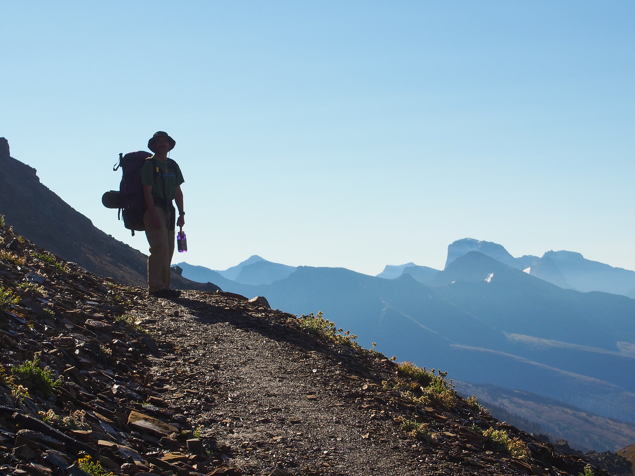 Day 4/5 - Mark on Highline trail, Glacier NP