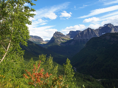 View from Going to the Sun road, Glacier NP