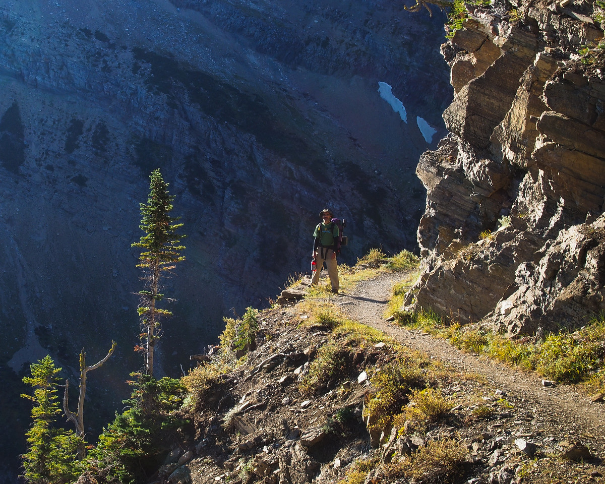 Day 5/5 - Mark on Swiftcurrent trail, Glacier NP