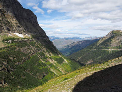Piegan mountain from Going to the Sun road, Glacier NP