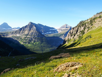 Piegan mountain from HIghline Trail (Garden Wall Divide), Glacier NP