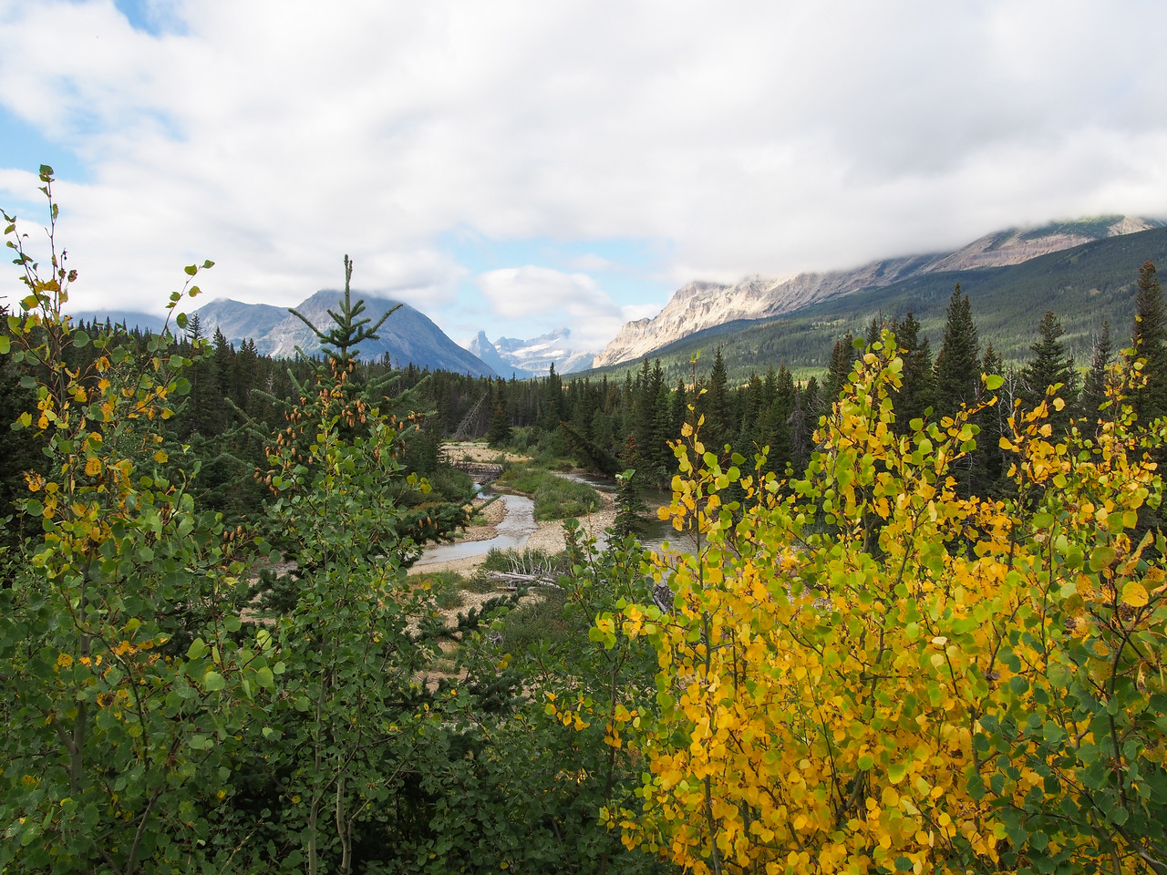 Day 1/5 - view of Belly River from Chief River trailhead, Glacier NP