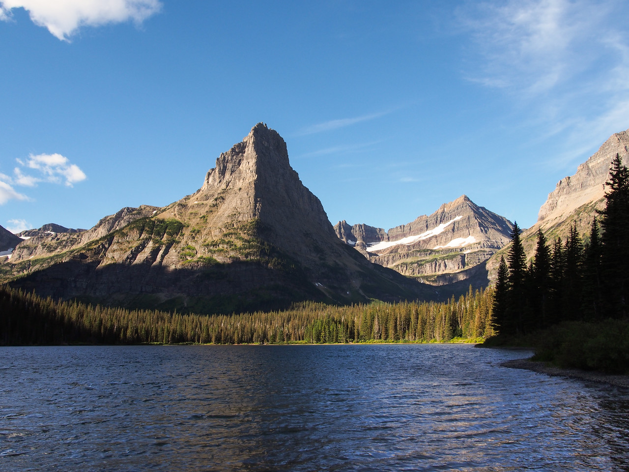 Day 1/5 - View of Glenns Lake from Foot Glenns Lake camp, Glacier NP