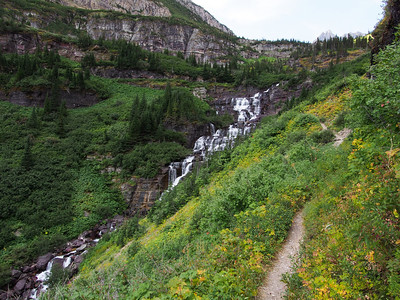 Day 2/5 - Approaching Palota Falls from Stoney Indian Trial, Glacier NP