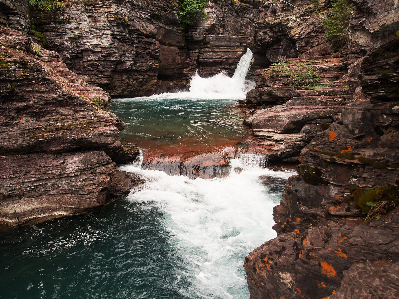 Saint Mary Falls, Glacier NP