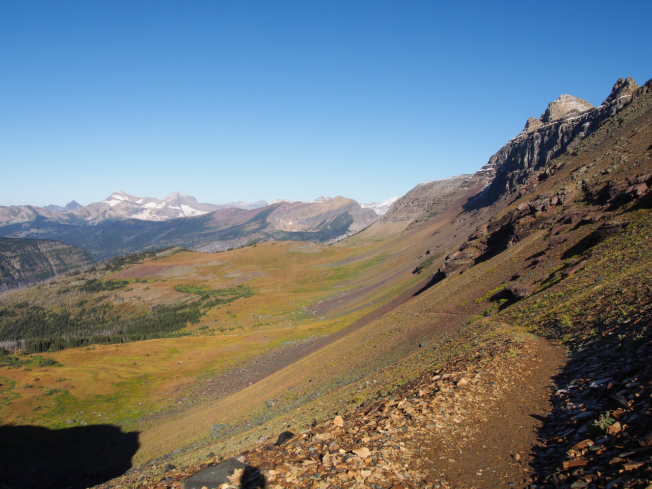Day 4/5 - Early morning hike on Highline trail from Fifty Mountain, Glacier NP