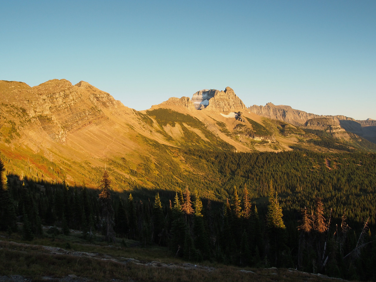 Day 4/5 - Garden Wall at sunset from Granite Chalet, Glacier NP