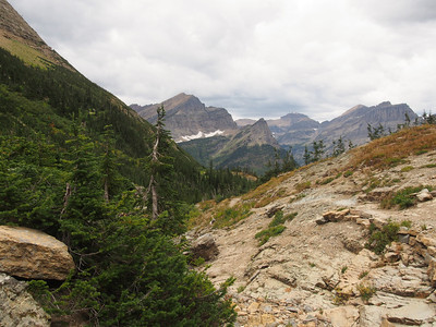 Day 3/5 - View towards Watertown valley from Stoney Indian campsite, Glacier NP