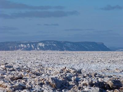 Minas Basin, East Point to Blomidon, February 12, 2015.
