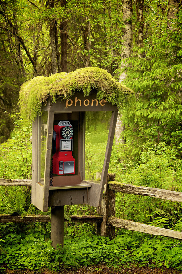 Phone at the Visitor Center.