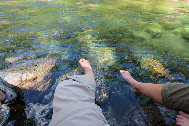 The water in Gold Creek was so cold, it actually HURT!