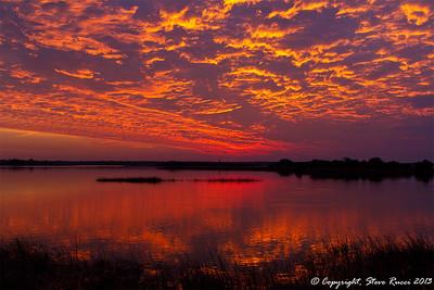 Sunset along the St. John's River at Mayport.