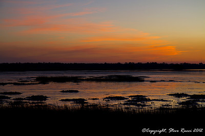 Sunset along the St. John's River at Mayport.