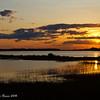 Sunset over the St. John's River near Mayport.