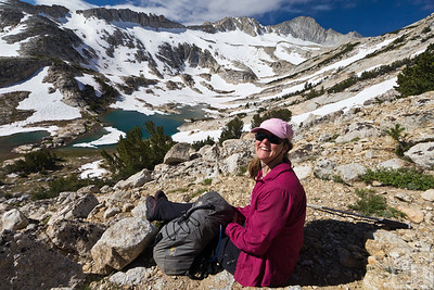 Taking a break on the way up to North Peak
