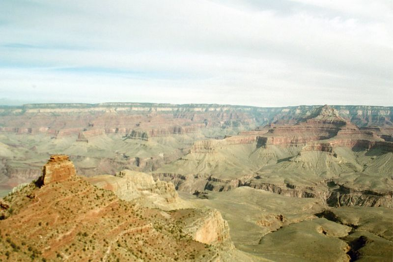 That's the north rim on the horizon - our destination