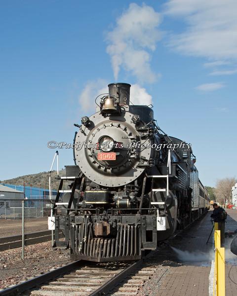 Grand Canyon Railway, Engine #4960, warming up!