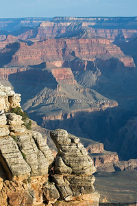 The view to the east from Mather Point.