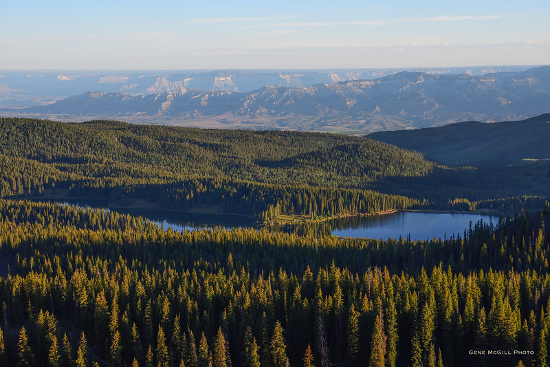 Cottonwood Lake #1 and the Roan Plateau from Grand Mesa
