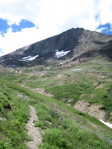 On the Farewell Gap trail. Vandever Mountain in distance; it's a class-1 slog from Farewell Gap.