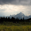 Clearing storm over the Teton mountain range, Wyoming.