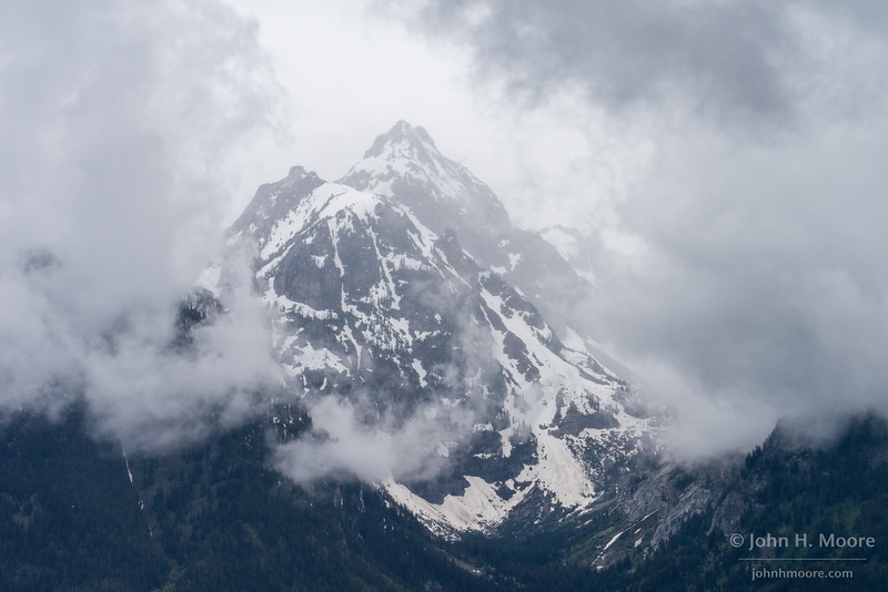 Mountains in the clouds, Grand Teton National Park