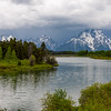 Mount Moran and the Teton Range as seen from Oxbow Bend in Grand Teton National Park