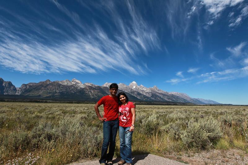 The Teton range, Grand Teton national park.