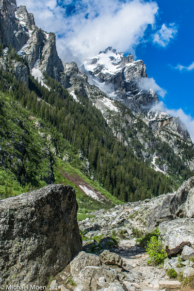 The Grand Teton from Cascade Canyon Trail
