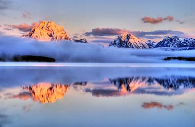 Foggy Mt Moran
