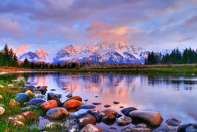 Sunrise Color in Grand Tetons