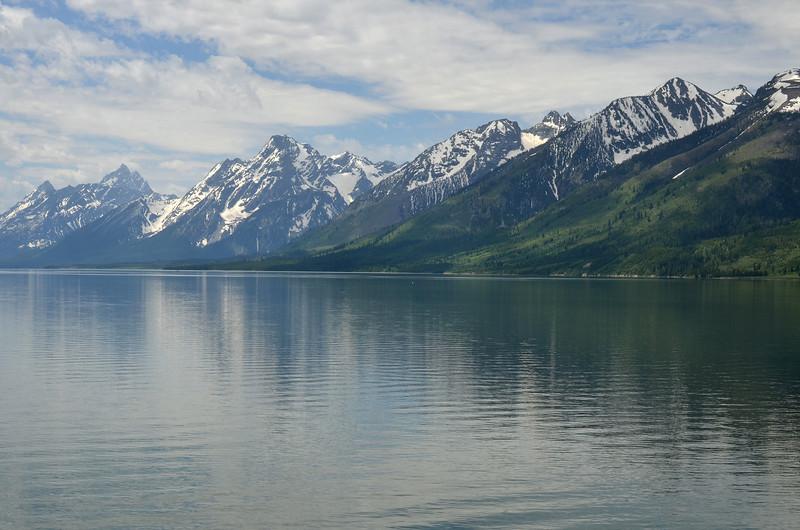 Grand Tetons and Jackson Lake - Roadside Turnout