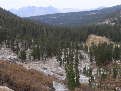 Contouring to the western side of Glacier Valley, looking down to the northeast.