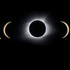 A composite of the entire eclipse viewing