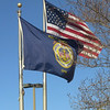 Merchant Marine flag flying at MEBA hall, Norfolk, VA