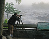 Tom getting pictures of the flooded river