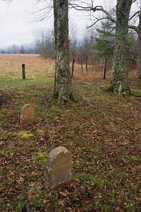 Old Gravestones In Cades Cove