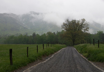 Cades Cove on a rainy day.
