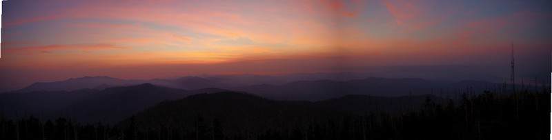 Clingmans Dome sunrise pano