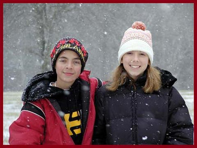 Jared and Crystal at Cades Cove on Christmas Morning