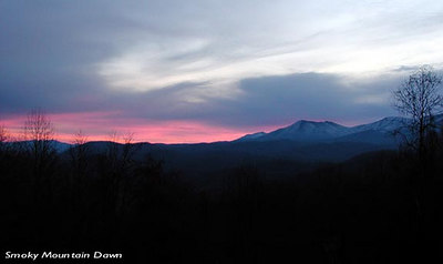 Smoky Mountain Dawn  Early morning view from Maloney Point GSMNP TN