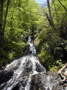Flat Creek Falls in the Smokies.  Near Heintooga Overlook.