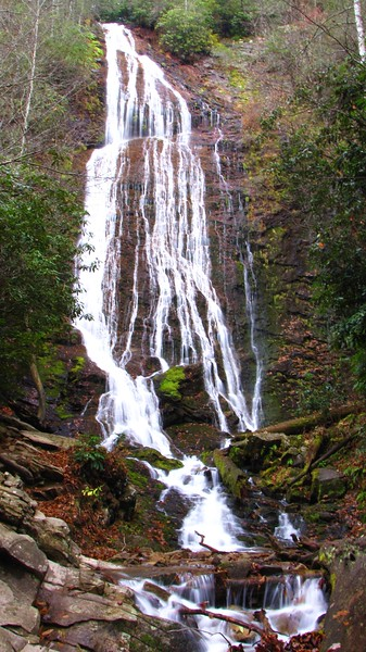 Mingo Falls, which is just outside the GSMP in the Qualla Boundary
