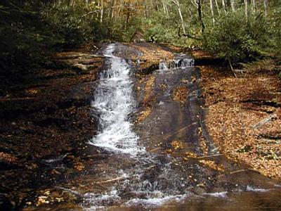 Forney Creek Cascade or Rock Slab Falls