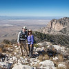 The hike to Guadalupe Peak is a 6-8 hour, strenuous trek that climbs 3000 ft in 4 1/2 miles.